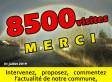 PLUS DE 8500 Visites… Merci